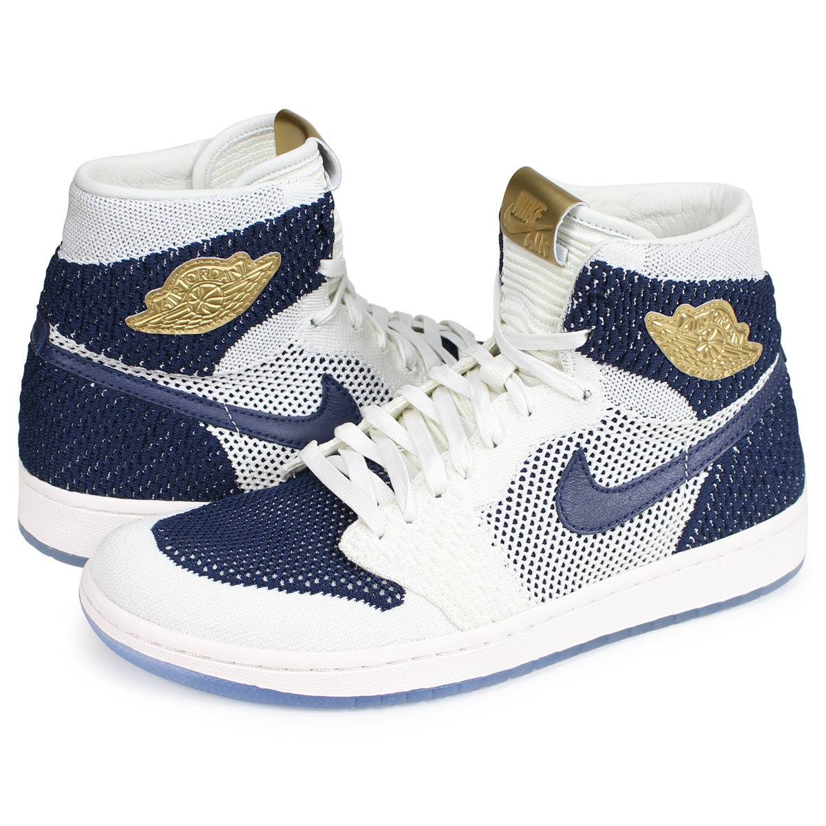 new product 8a4ad 1a929 Nike NIKE Air Jordan 1 nostalgic high sneakers men AIR JORDAN 1 RETRO HI  FLYKNIT JETER white AH7233-105 [2/21 Shinnyu load] [192]