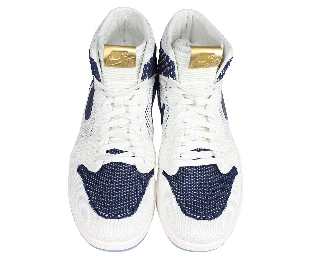 03337fa19251 Nike NIKE Air Jordan 1 nostalgic high sneakers men AIR JORDAN 1 RETRO HI  FLYKNIT JETER white AH7233-105  2 21 Shinnyu load   192