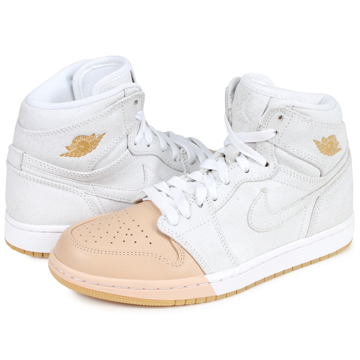 new arrival 9bc4f 2f28b Nike NIKE Air Jordan 1 nostalgic high sneakers Lady s WMNS AIR JORDAN 1  RETRO HIGH white AH7389-107  2 21 Shinnyu load   192