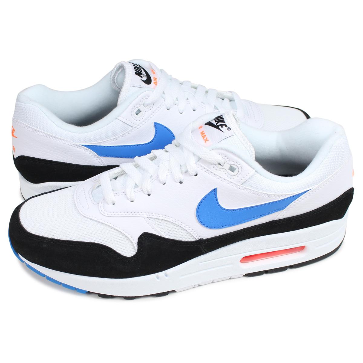 Nike Air Max 1 White Blue Orange AH8145 112 Info