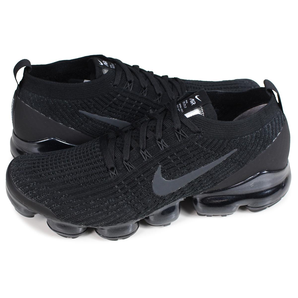 Nike NIKE air vapor max fried food knit 3 sneakers men AIR VAPORMAX FLYKNIT 3 black black AJ6900 004