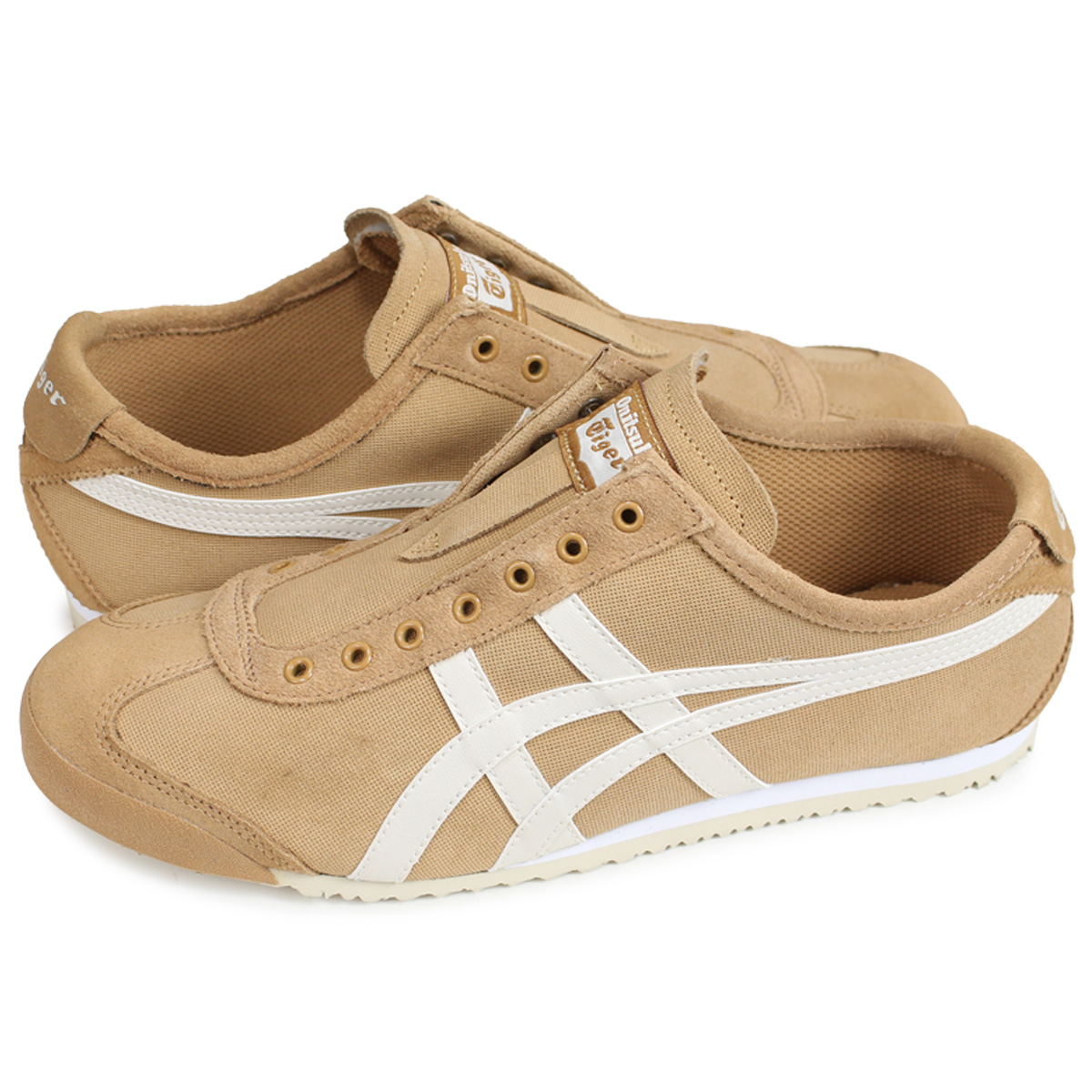 new product b144e 9dc0c Onitsuka Tiger MEXICO 66 SLIP-ON Onitsuka tiger Mexico 66 slip-ons men gap  Dis sneakers 1183A042-200 brown beige [1810]