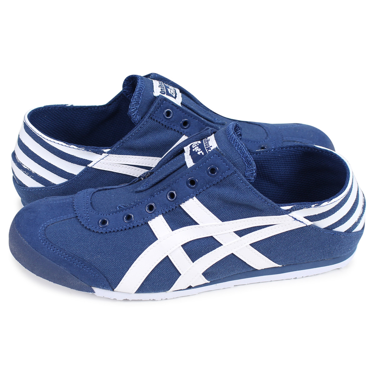 buy popular 572dd 552fb Onitsuka Tiger MEXICO 66 PARATY Onitsuka tiger Mexico 66 sneakers slip-ons  men gap Dis blue 1183A339-401 [193]
