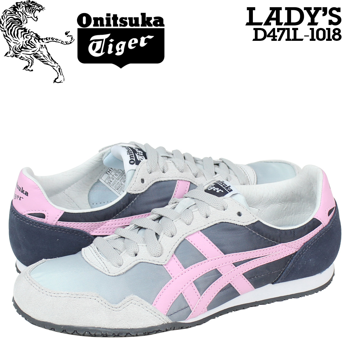 designer fashion 00b4f adf36 [SOLD OUT] ONITSUKA Tiger ASICs Onitsuka Tiger asics Serrano sneakers  Womens SERRANO D 471L-1018 shoe grey