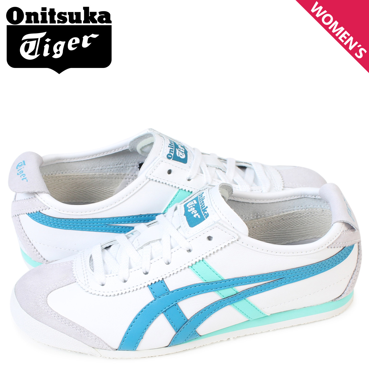 100% authentic 4a076 2597d Onitsuka Tiger Mexico 66 Onitsuka tiger MEXICO 66 Lady's sneakers ASICS  HL474-0156 shoes white [load planned Shinnyu load in reservation product  9/26 ...