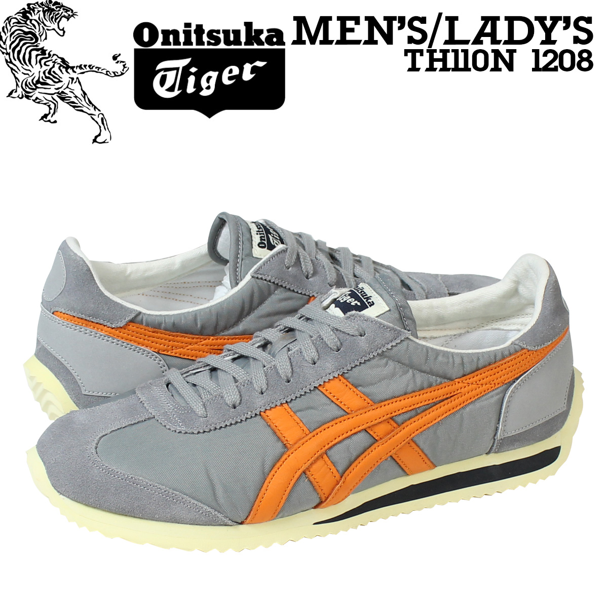 Onitsuka Tiger ASICs Onitsuka Tiger asics California sneaker CALIFORNIA 78  VIN TH 110N-1208 mens womens shoes grey