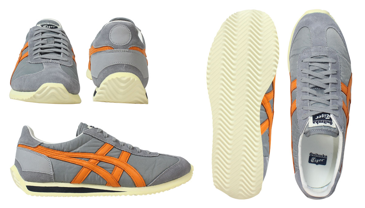 Onitsuka Tiger ASICs Onitsuka Tiger asics California sneaker CALIFORNIA 78  VIN TH 110N-1208 men's women's shoes grey