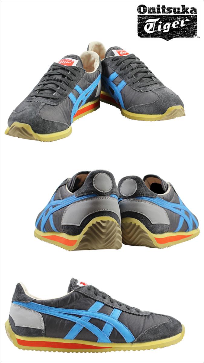 [SOLD OUT]onitsukataigaashikkusu Onitsuka Tiger asics CALIFORNIA 78 VIN運動鞋加利福尼亞78復古新作品TH110N-1643灰色藍色人分歧D