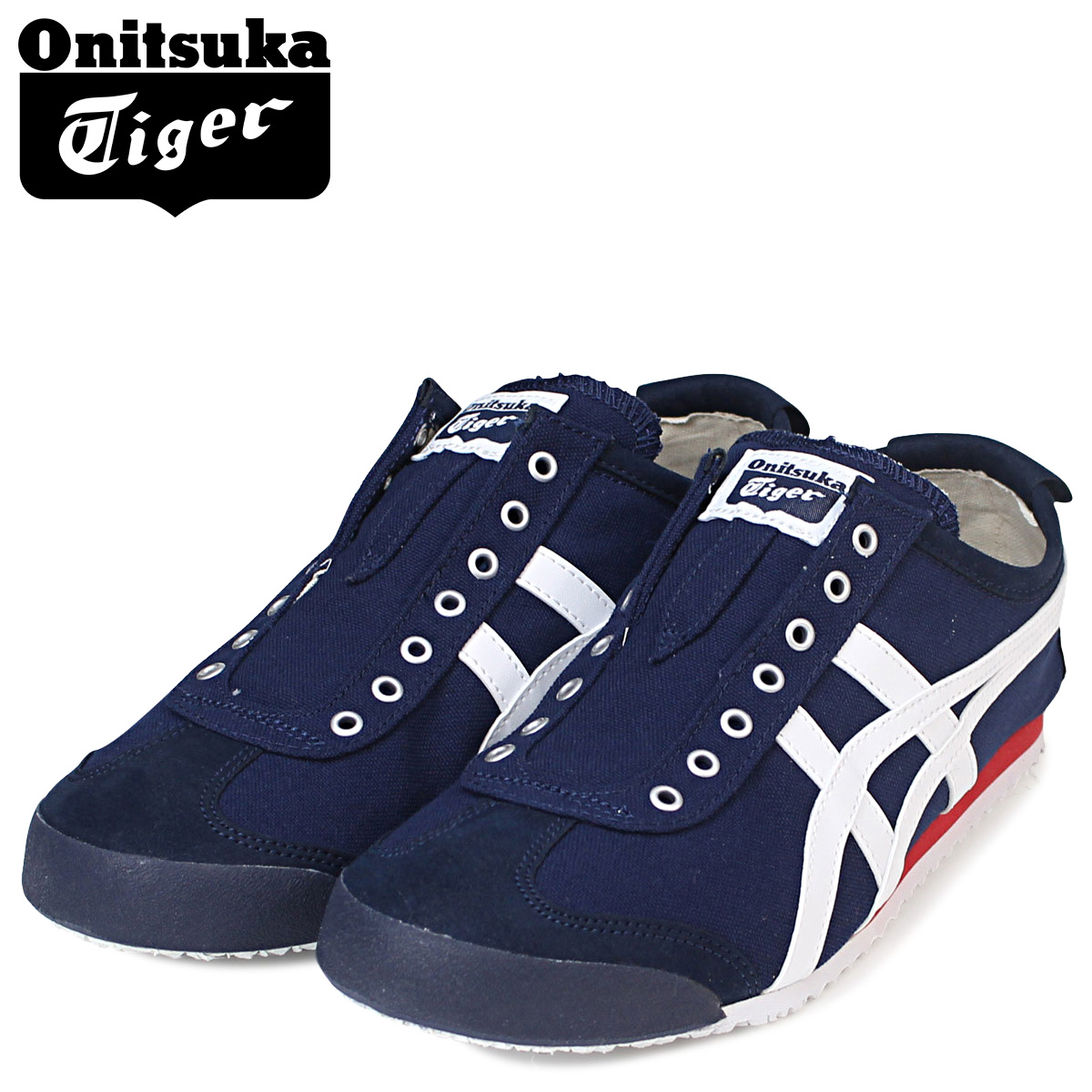 save off 2c335 3dbf0 Onitsuka Tiger MEXICO 66 SLIP ON Onitsuka tiger Mexico 66 slip-ons men gap  Dis sneakers D3K0N 5099 navy [8/1 reentry load] [197]
