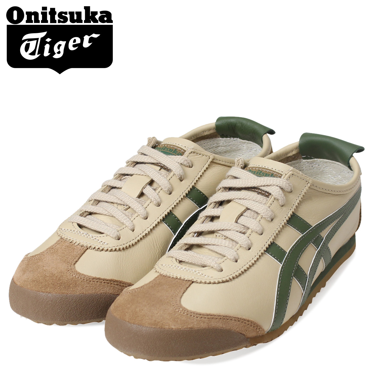 Point 2 x ASICs Onitsuka Tiger asics MEXICO 66 THL202-1785 sneakers ONITSUKA Tiger Mexico 66 suede × leather men's suede beige [1 / 31 new in stock] [regular] ★ ★