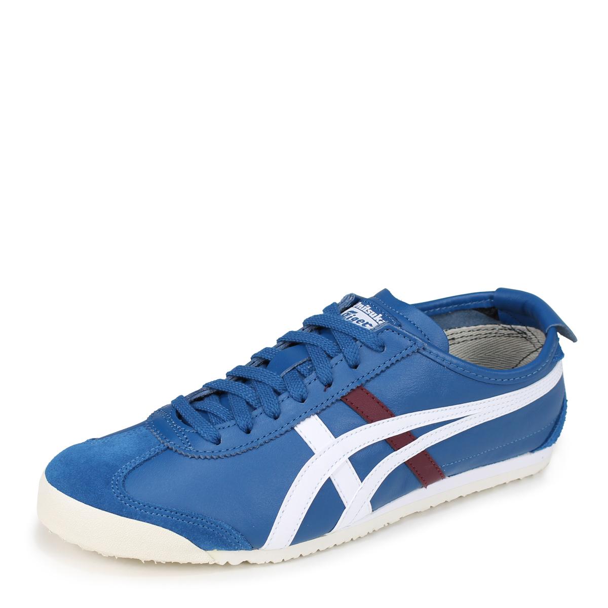 onitsuka tiger mexico 66 black blue uomo rojo