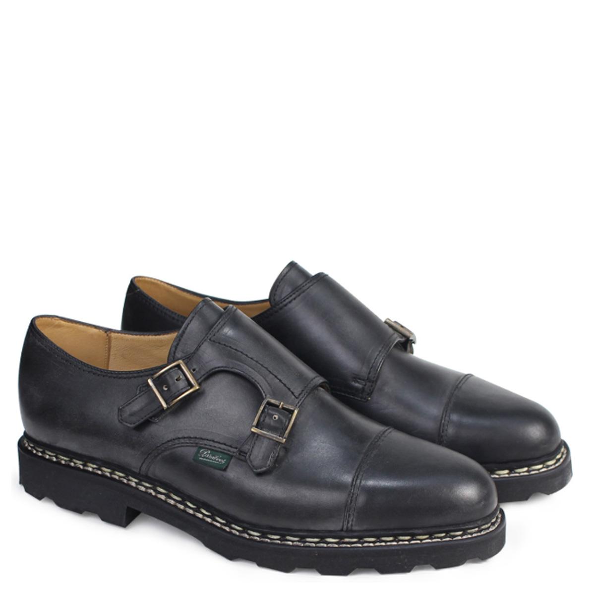 PARABOOT WILLIAM パラブーツ ウィリアム シューズ ダブルモンクシューズ 981412 メンズ レディース 靴 ブラック [4/7 追加入荷]