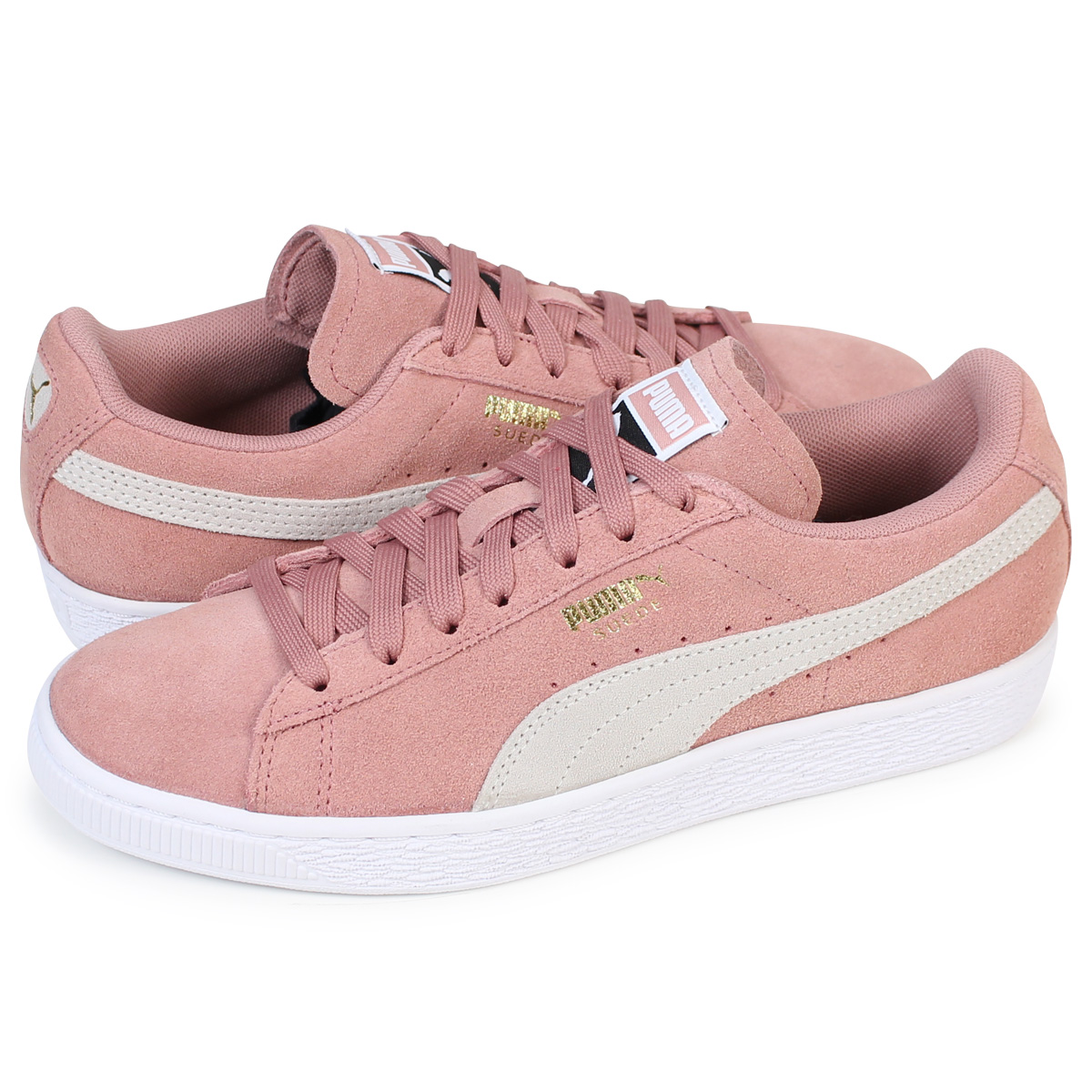 premium selection 02444 57945 PUMA SUEDE CLASSIC WMNS Puma suede classical music Lady's sneakers  355,462-56 men's shoes pink [load planned Shinnyu load in reservation  product 12/14 ...