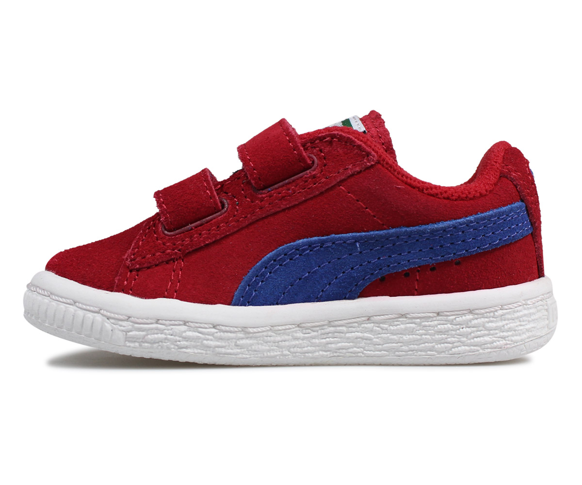 PUMA SUEDE 2 STRAPS KIDS Puma suede sneakers baby kids red 35627463