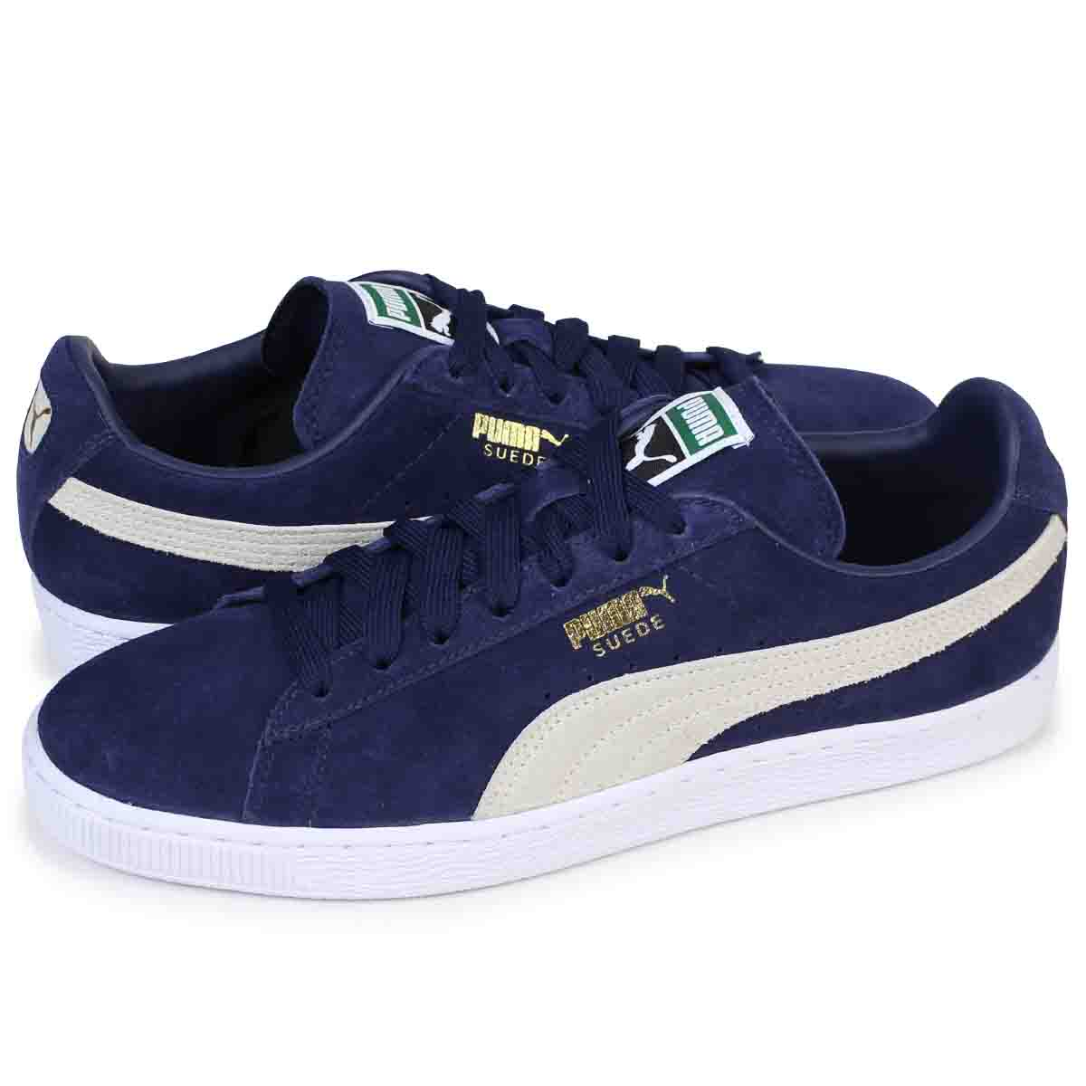 PUMA Puma suede classical music sneakers SUEDE CLASSIC + 356,568 51 men's shoes navy