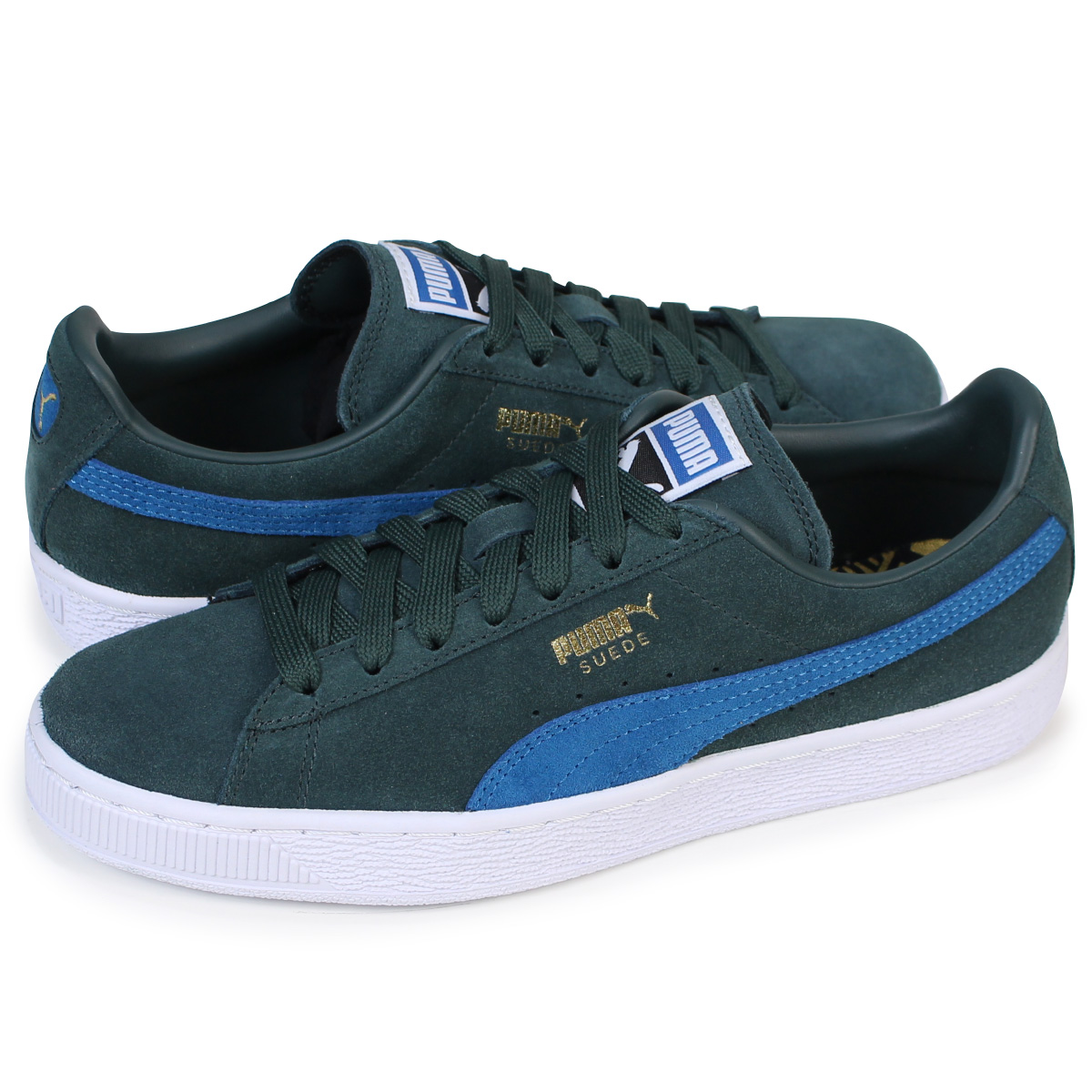free shipping 5a0d1 c45b1 PUMA SUEDE CLASSIC + Puma suede classical music sneakers 363,242-30 men's  lady's shoes green [1712]