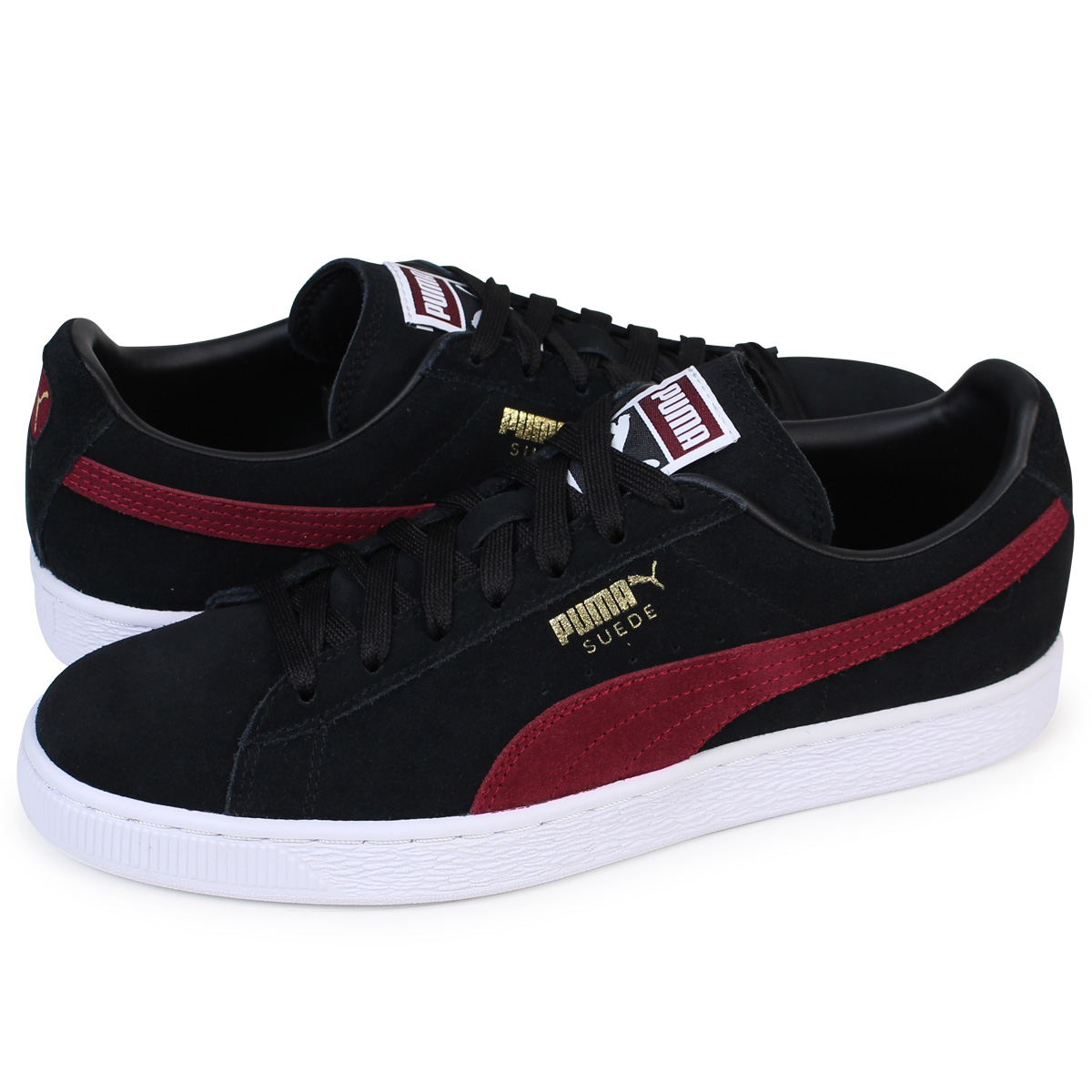 PUMA SUEDE CLASSIC + Puma suede classical music sneakers 363,242-31 men's  lady's shoes black [load planned Shinnyu load in reservation product 12/14  ...