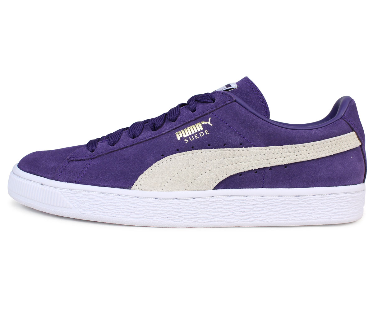 PUMA SUEDE CLASSIC + Puma suede classical music sneakers 363,242 32 men's lady's shoes purple [1712]