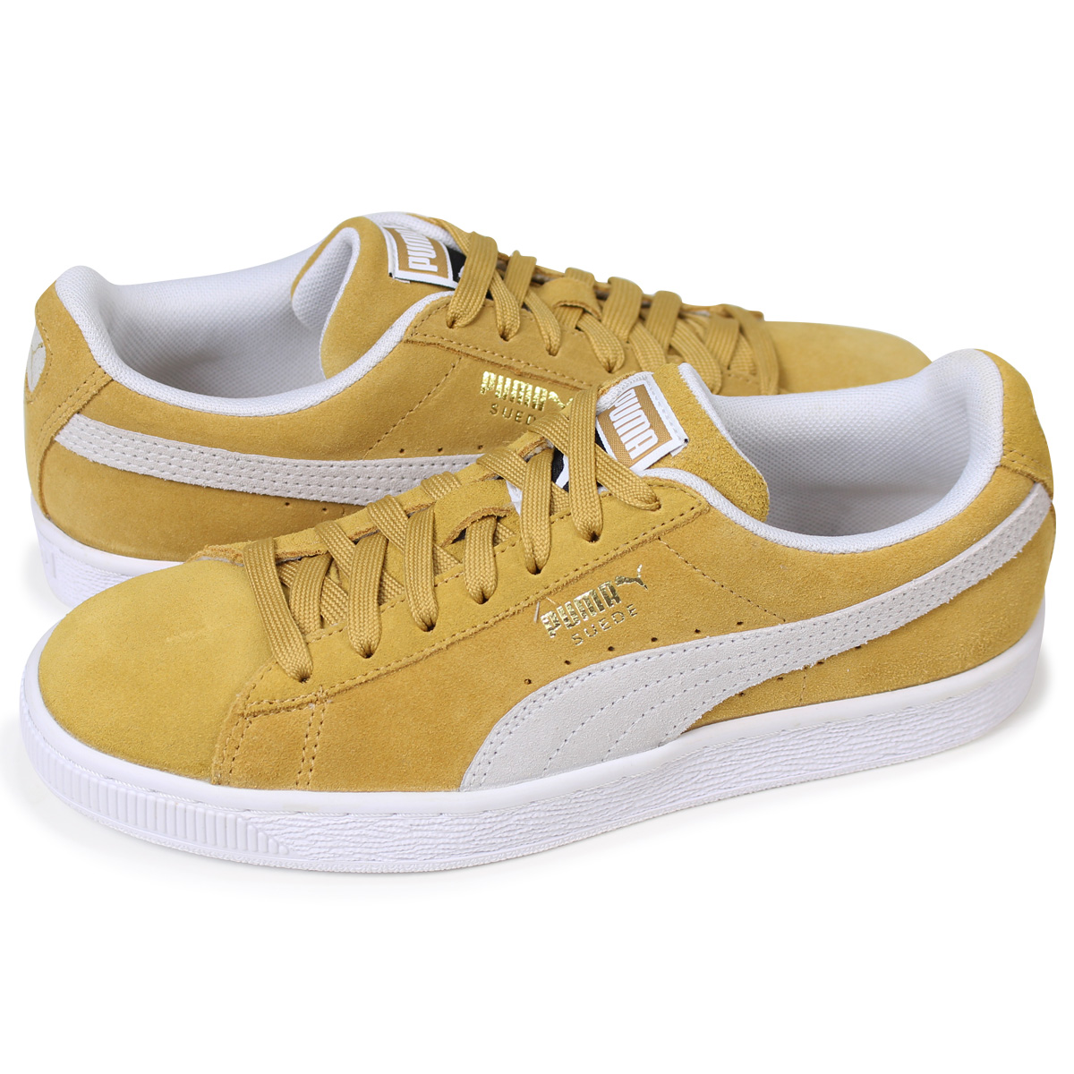 uk availability 3ceee 810e1 PUMA SUEDE CLASSIC Puma suede classical music sneakers men gap Dis  365,347-10 yellow [load planned Shinnyu load in reservation product 4/18 ...