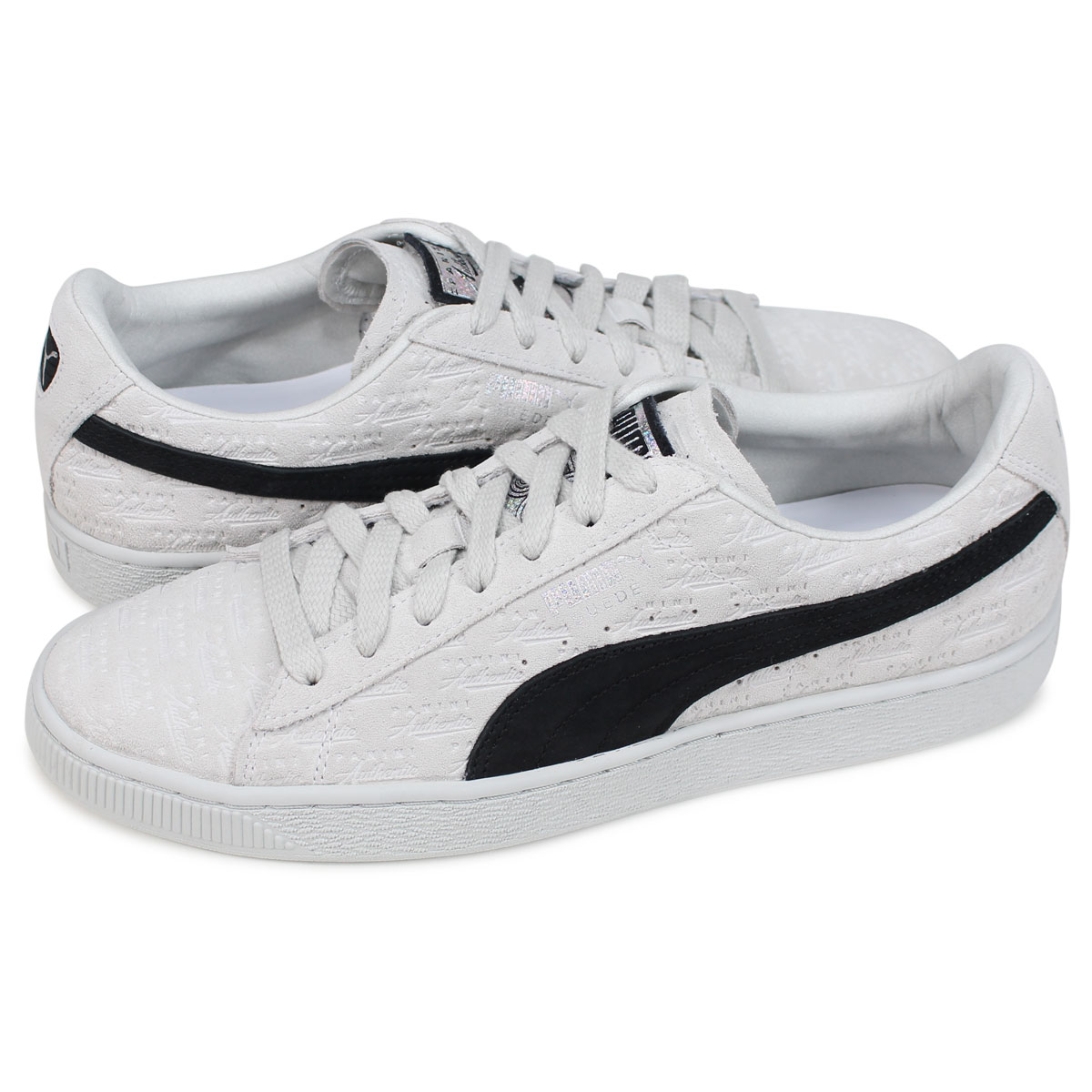 günstiger Preis neueste Art von 2019 echt PUMA SUEDE CLASSIC Puma suede cloth classical music sneakers men gap Dis  Panini collaboration PANINI white 366,323-01 [191]