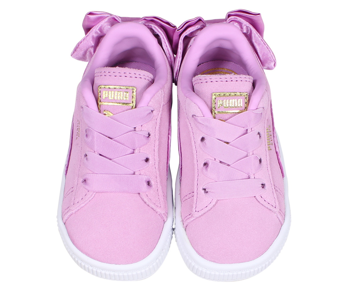PUMA SUEDE BOW AC INF Puma suede bow tie sneakers baby kids pink 36732005
