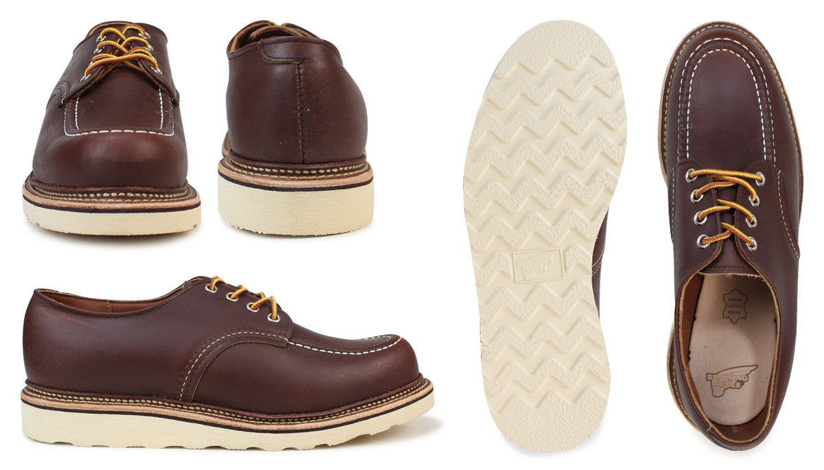 7d32a7b81a Redwing RED WING boots Oxford 8109 Moc Toe Work Oxford D wise leather mens  Made in USA Red Wing