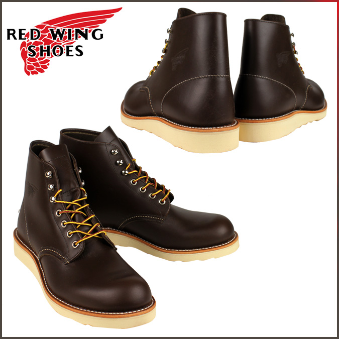 [SOLD OUT] Red Wing RED WING 6 inch round tubes [Breen] 8132 Plain Round Toe Boot leather men's Brown Made in USA Red Wing