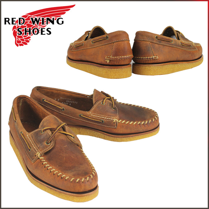 Redwing RED WING genuine handsaw moccasin shoes 9157 Oxford Shoes mens Brown Made in USA Red Wing