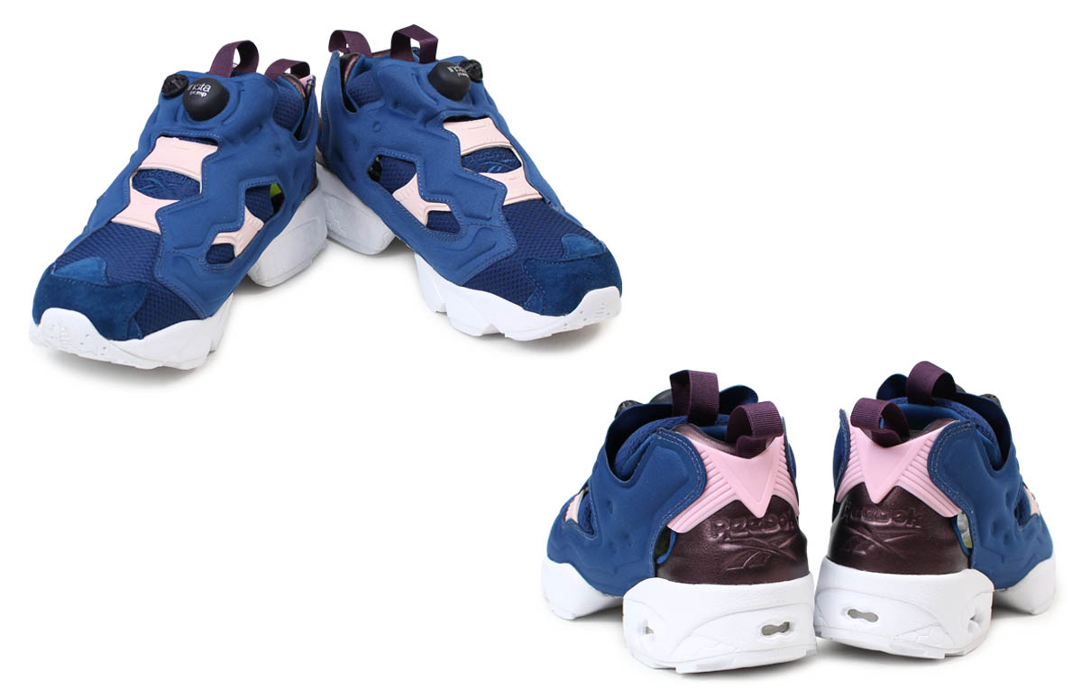 36ee5ed76d0 リーボックポンプフューリースニーカー Reebok Lady s men collaboration FACE STOCKHOLM INSTAPUMP  FURY AR2650 shoes navy  2 1 Shinnyu load