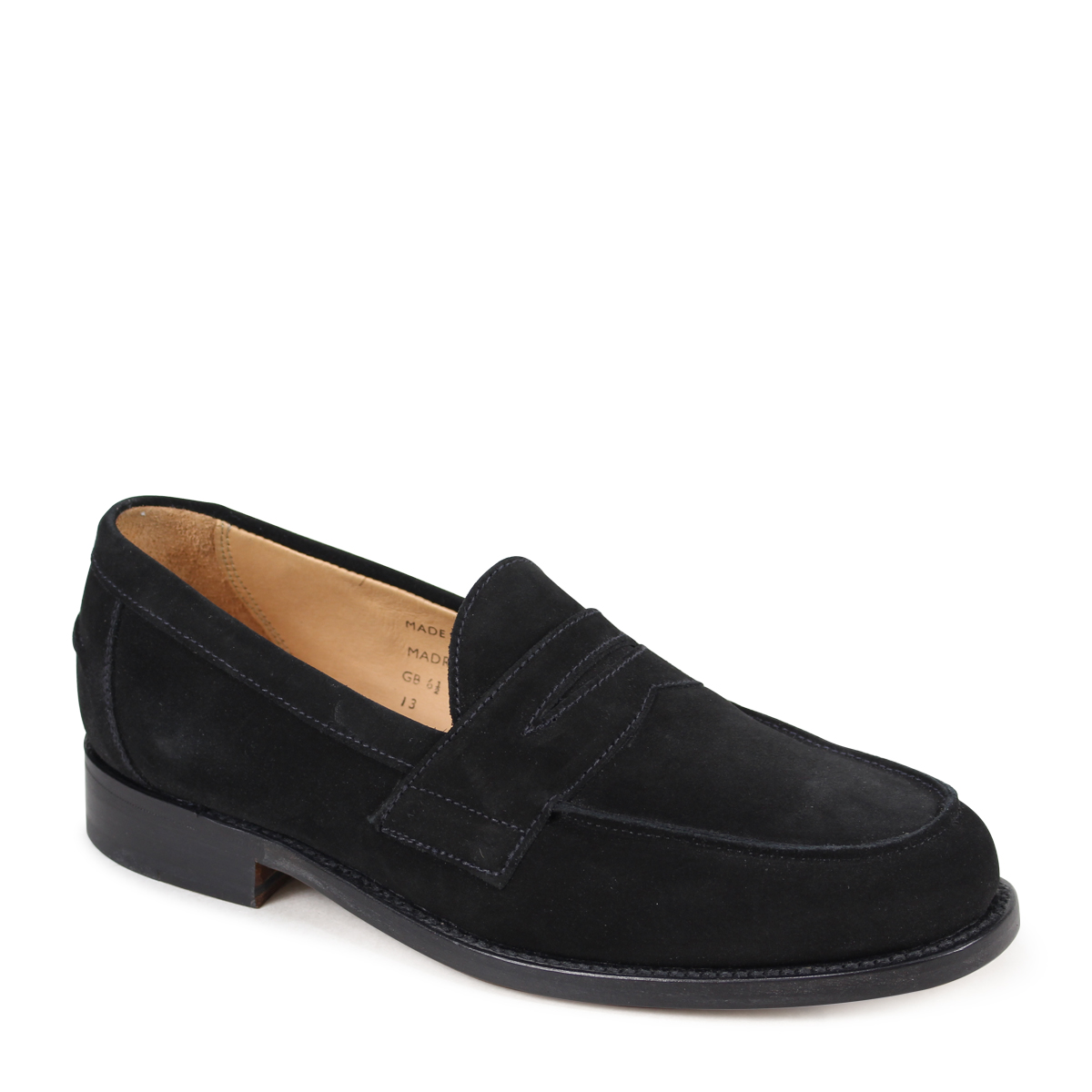 Allsports Sanders Madrid Penny Loafer Shoes D Island Casual Comfort Loafers Suede Black Men 9486bs 3 22 Shinnyu Load 183