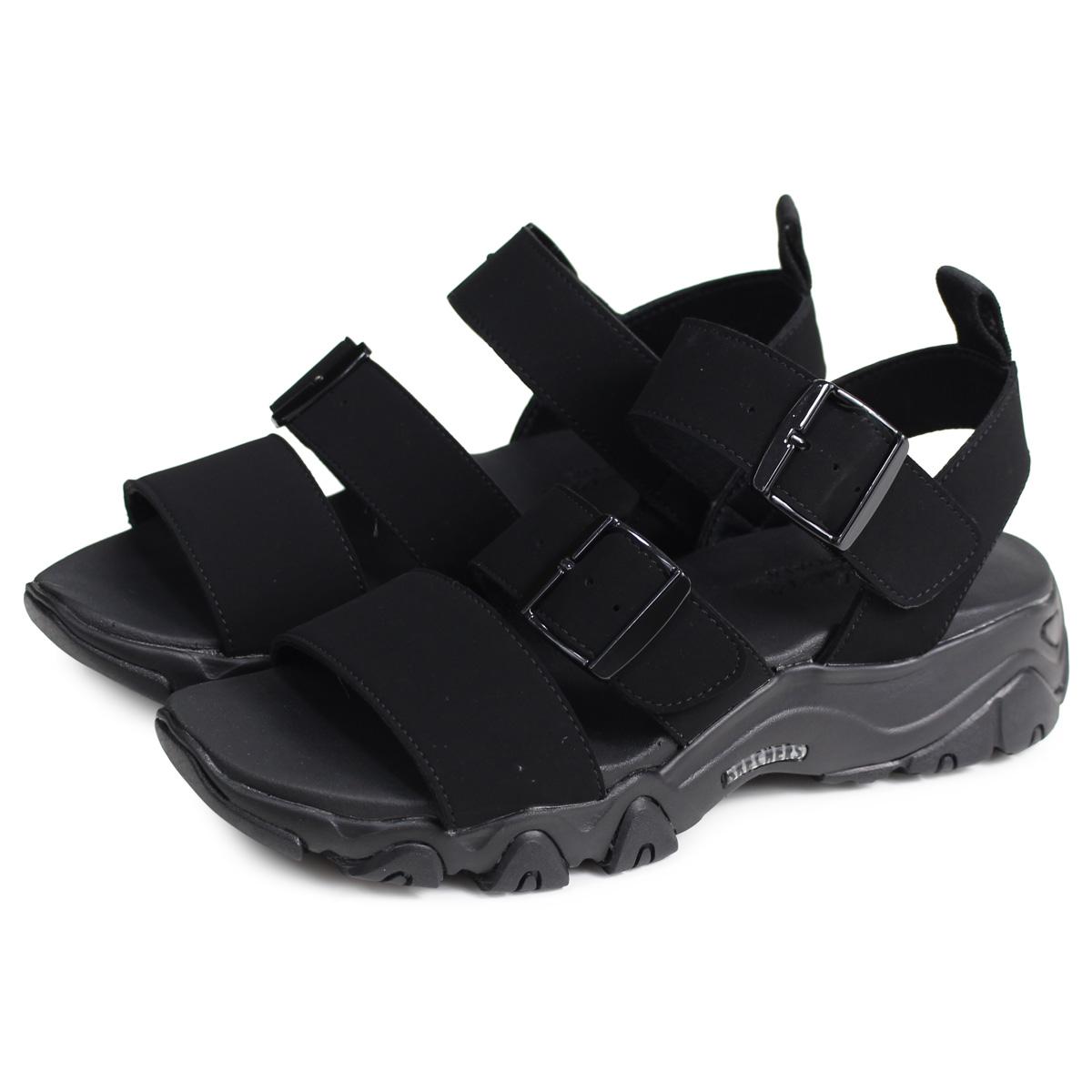 skechers black sandals