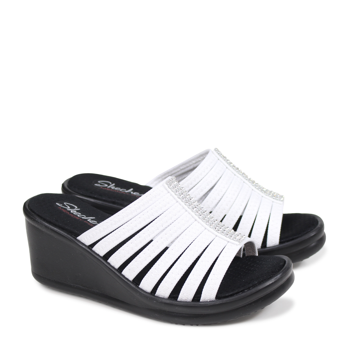 48bbd6be57 スケッチャーズ SKECHERS Rambler gap Dis sandals thickness bottom RUMBLERS HOTSHOT  38562 white [load planned Shinnyu load in reservation product 5/19 ...