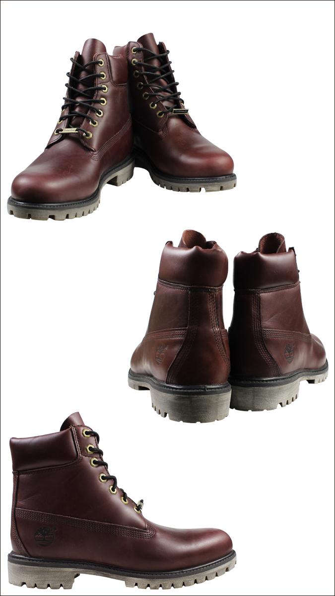 Timberland 6 Tommers Premium Støvlene Burgunder DHPav