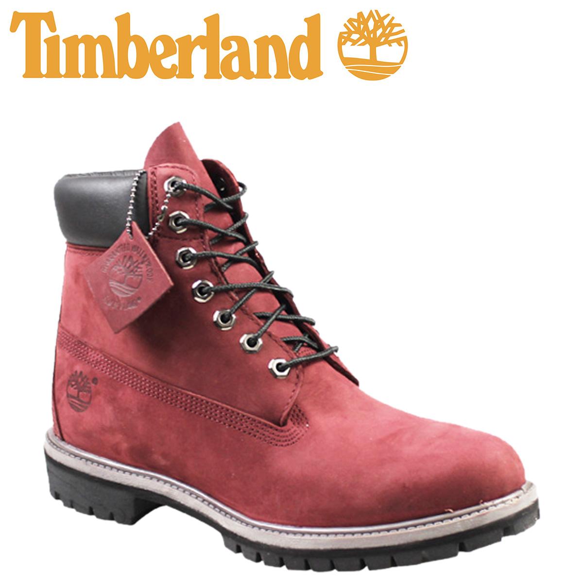 timberland premium waterproof red mens boots 6 8kP0wnO