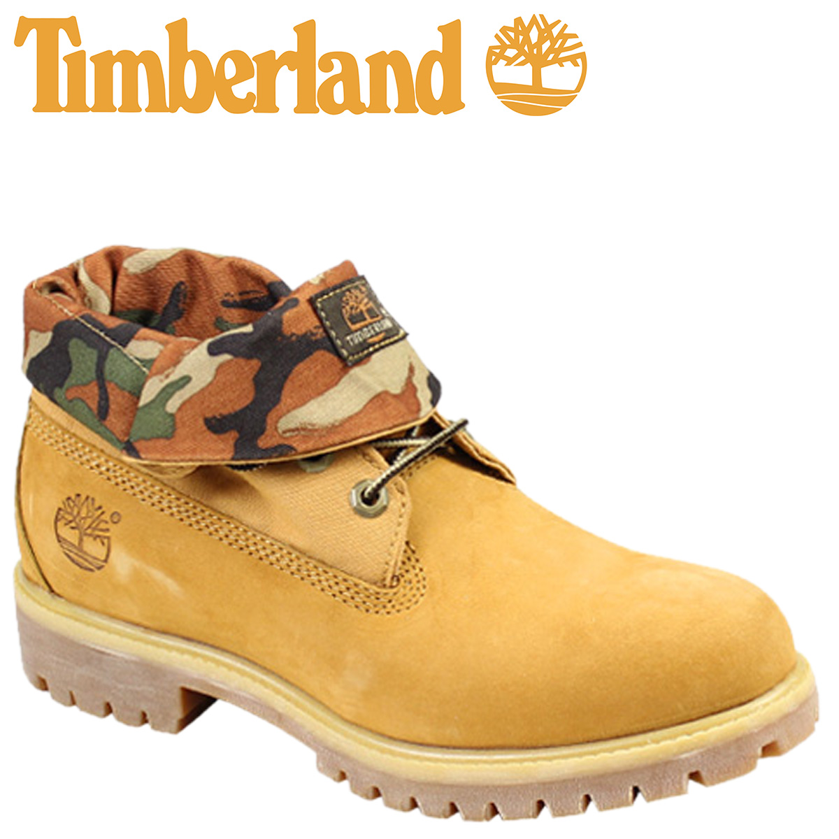 timberland men's roll top camo boots