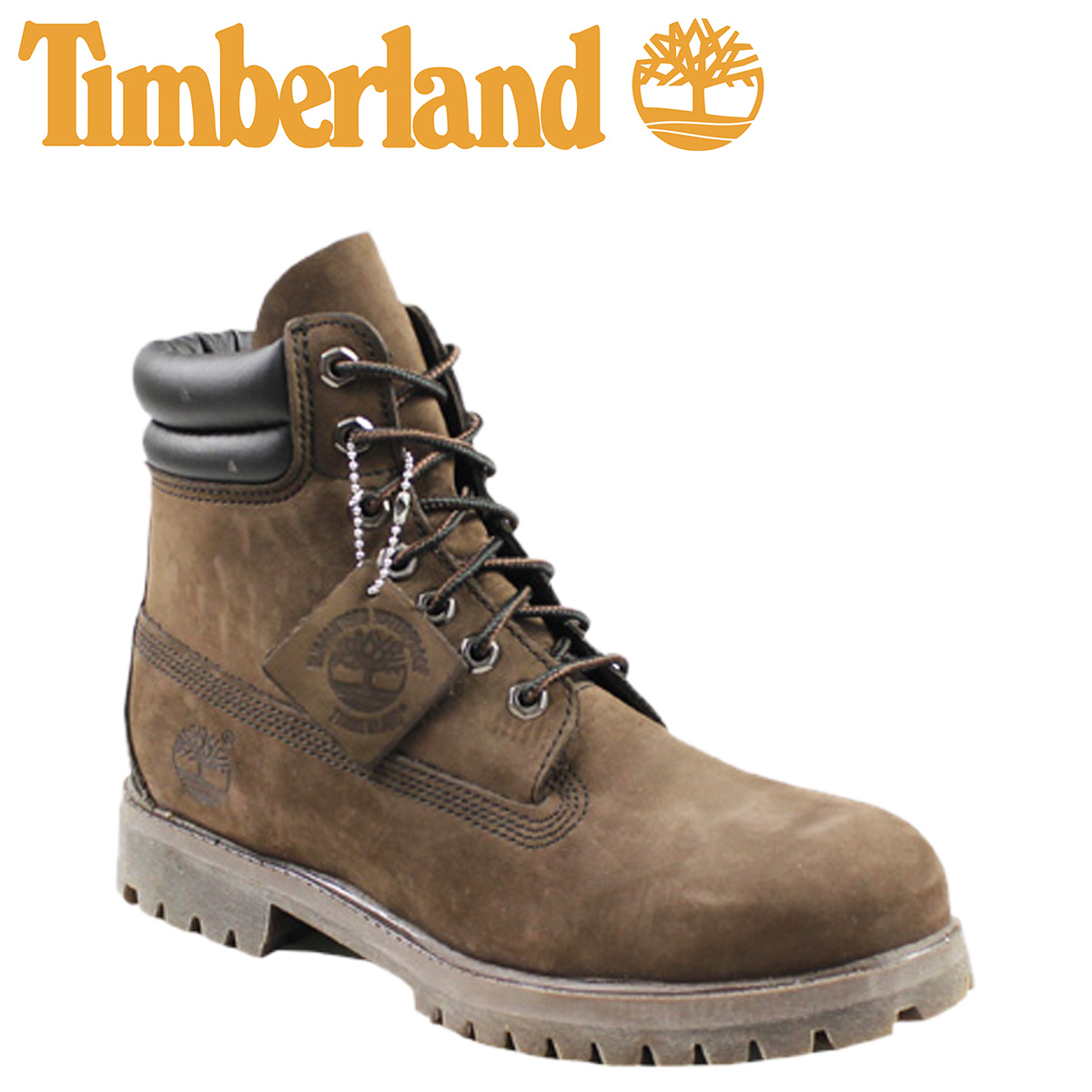 Timberland Timberland 6 inch double boots 6 INCH DOUBLE COLLAR BOOT nubuck  mens dark brown 73543 [3 / 24 new in stock] [regular] ★ ★