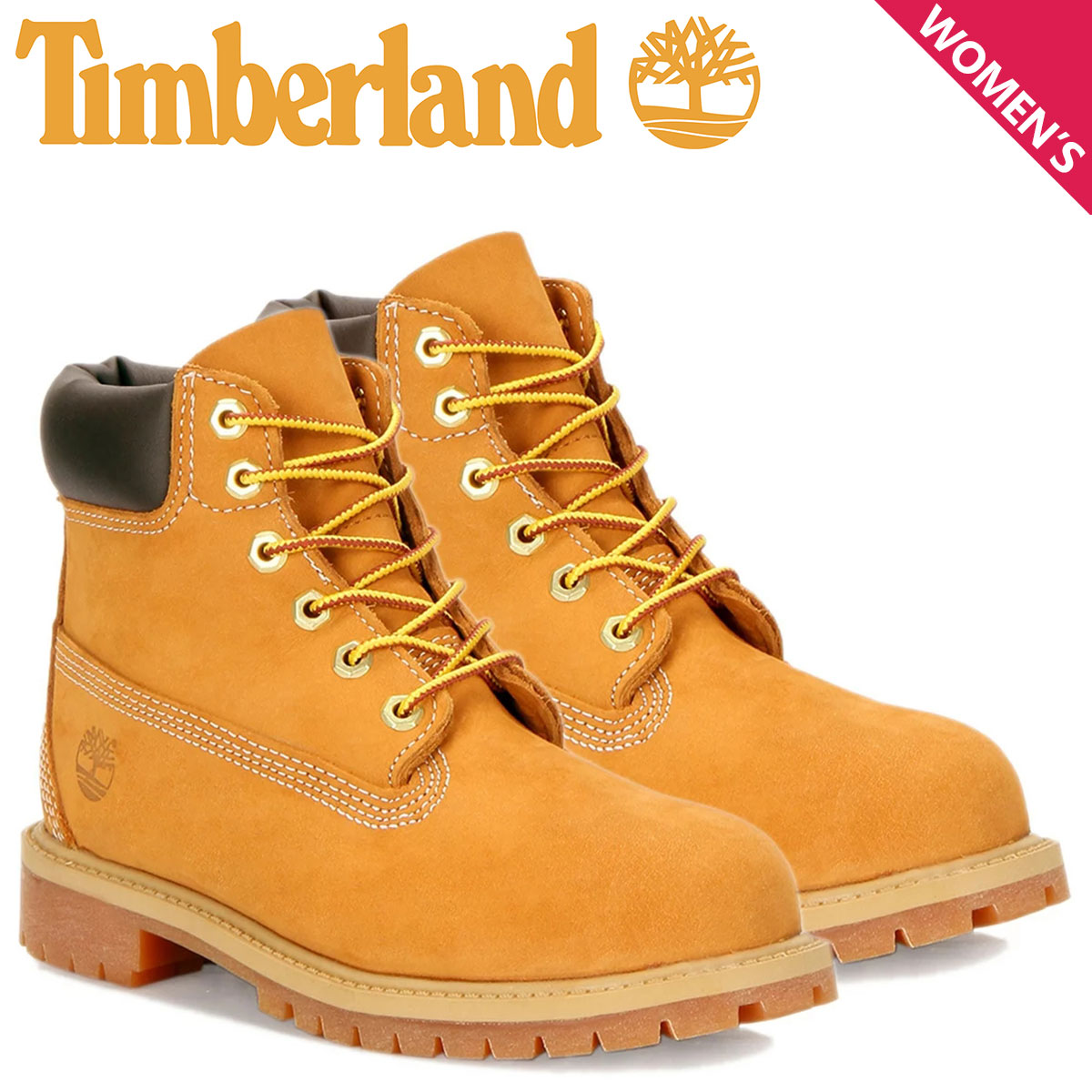 a0093644727 Timberland WOMENS 6INCH PREMIUM BOOT Timberland boots 6 inches premium  Lady's W Wise waterproofing ウィート 10361 [196]