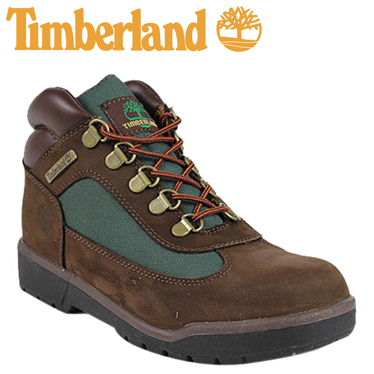 80337dba34a Timberland field boots 16937 Timberland Field Boot nubuck leather junior  kids child ladies BROWN×OLIVE ...