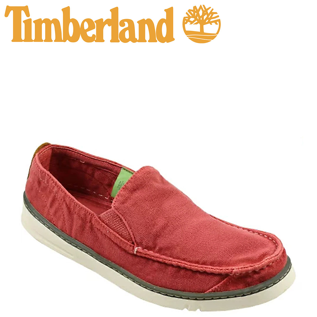 Timberland Timberland Earthkeepers hooksett crafted slip-on shoes EK HOOKSET HANDCRAFTED SLIP-ON canvas men's 5610R washed red [3 / 24 new in stock] [regular] ★ ★