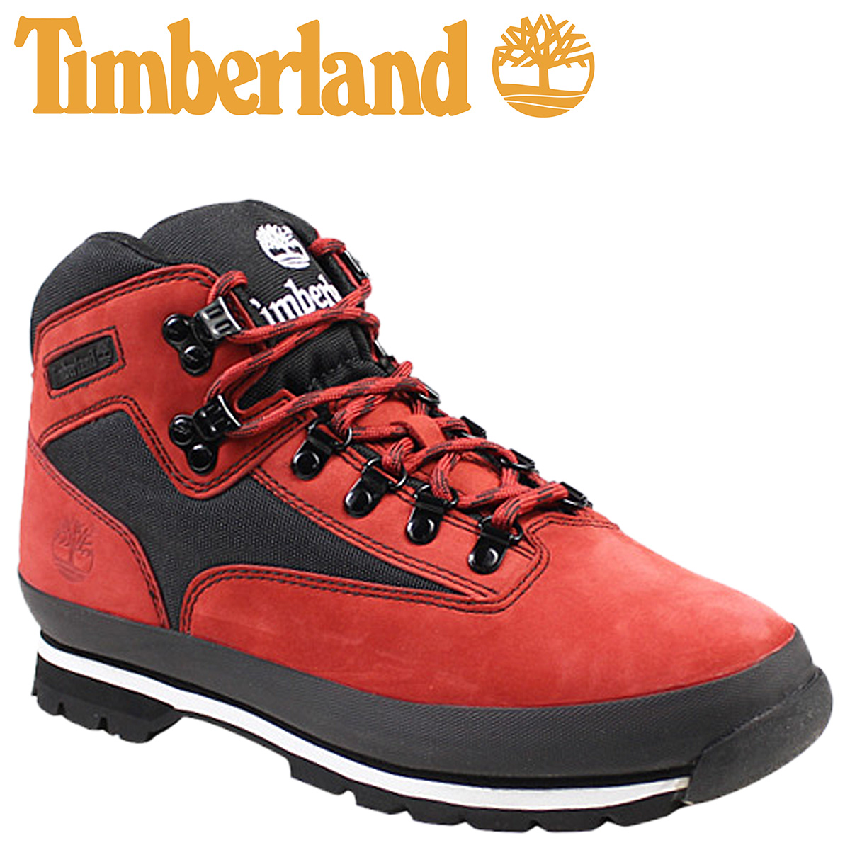 c547eb59f77 Point 2 x Timberland Timberland euro hiker boots FTB EURO HIKER leather  mens 6664A red × black [1 / 16 new in stock] [regular] [] ★ ★ 02P08Feb15