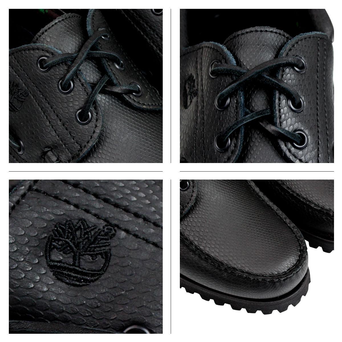 Timberland Estirón Zapatos Del Barco Negro G9eWZlEp