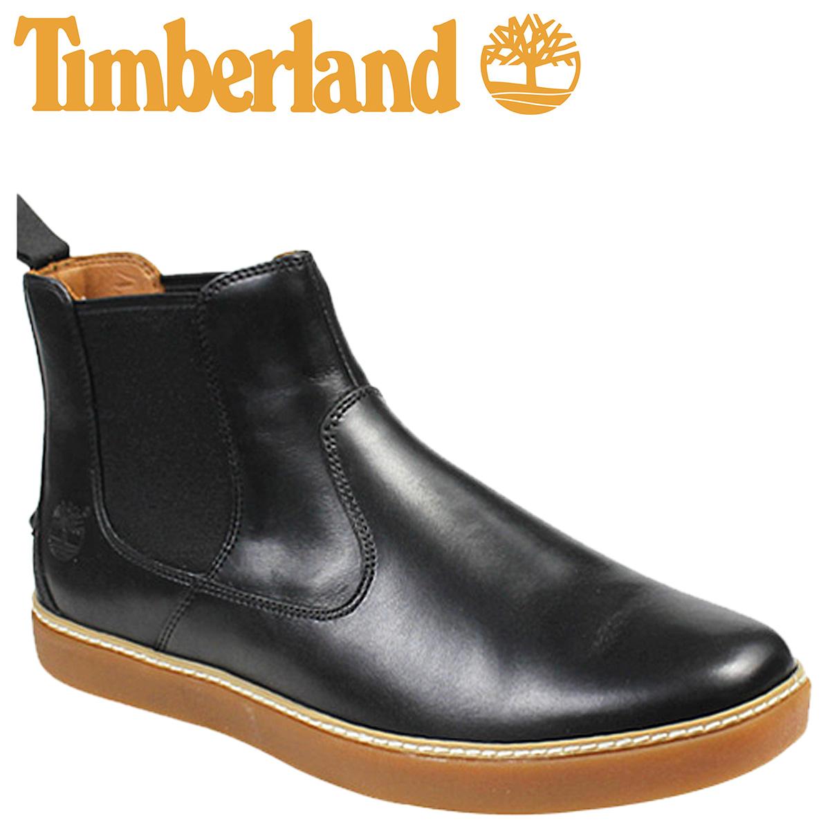 天伯伦天伯伦卫士墓碑切尔西靴子卫士 HUDSTON 切尔西鞋皮革男子 9652A 黑 [10 / 9 新股票] [定期]