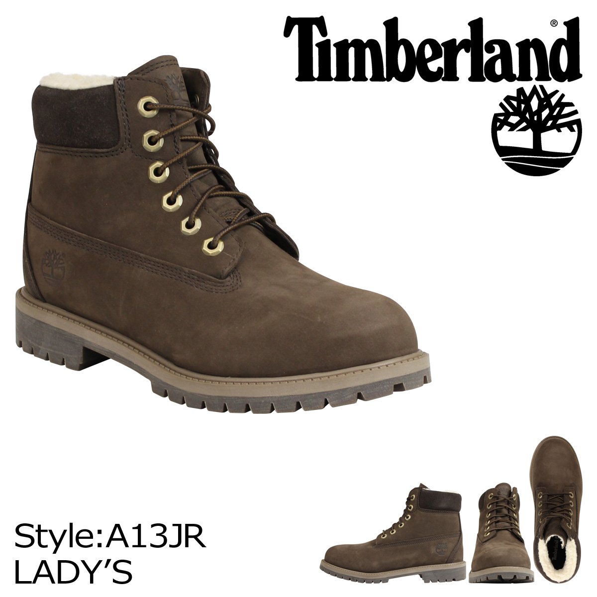 d5777500b32 Timberland-Timberland women's JUNIOR 6INCH PREMIUM WP BOOT boots 6 inch  premium waterproof A13JR Brown [10/15 new in stock]
