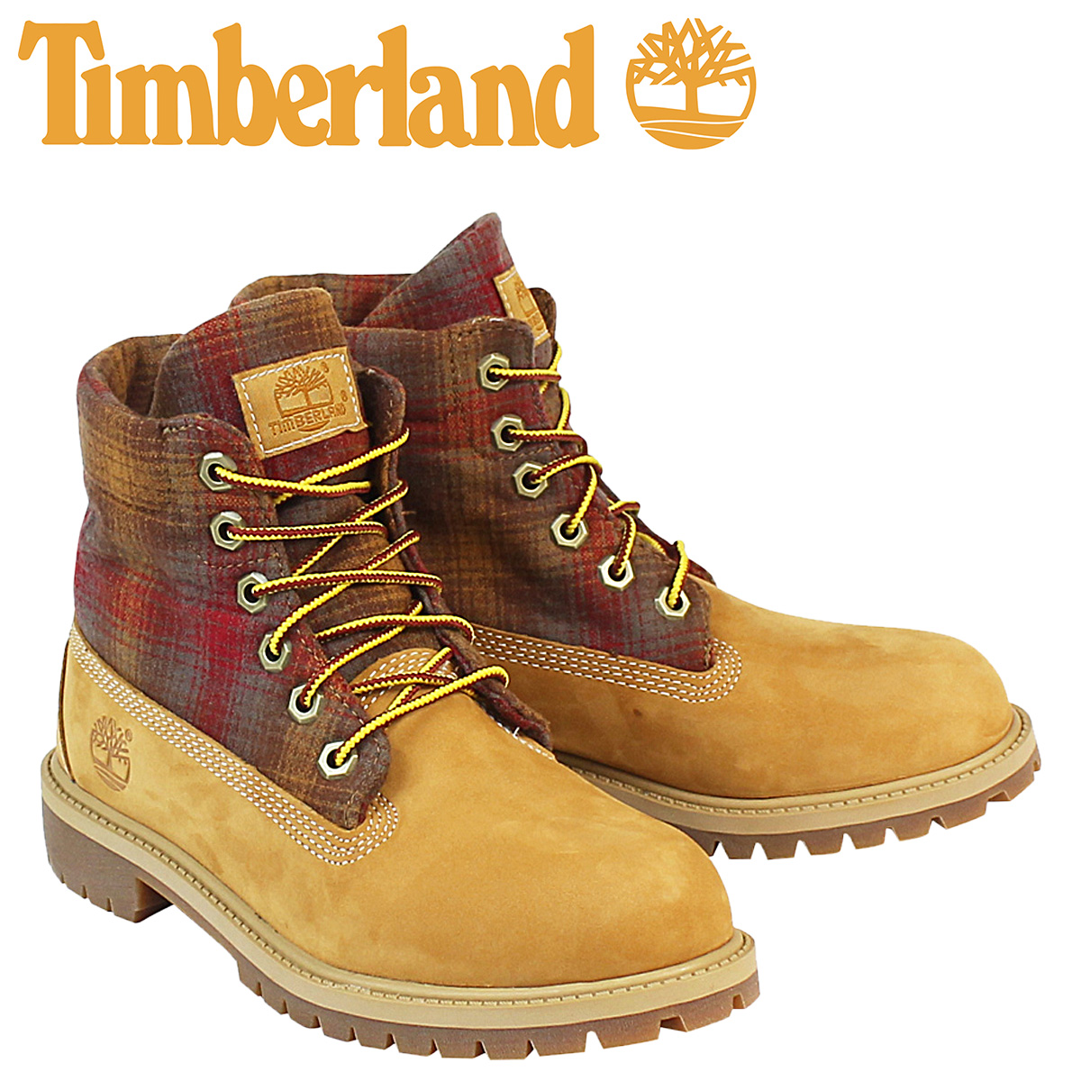 0acc277676 «Soon» «12   25 days stock» Timberland Timberland PENDLETON women s JUNIOR  ROLL TOP boots roll top boots Pendleton A13O6 M wise wheat. «