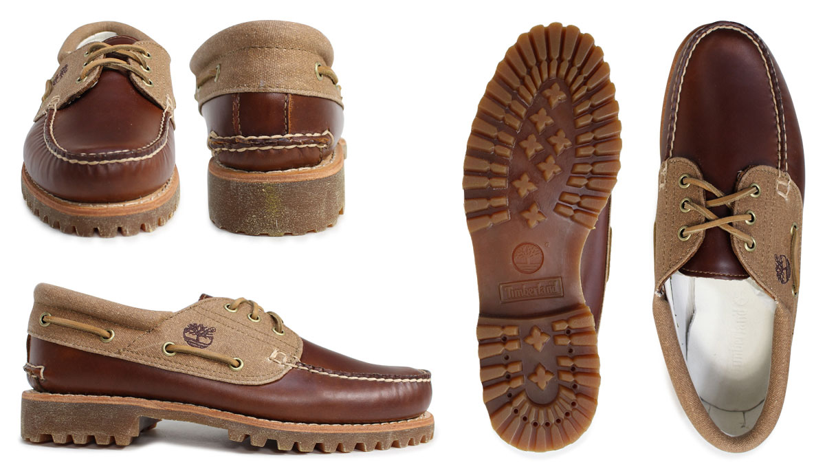 Timberland deck shoes men Timberland shoes AUTHENTICS 3 EYE CLASSIC LUG SHOES A15CW brown
