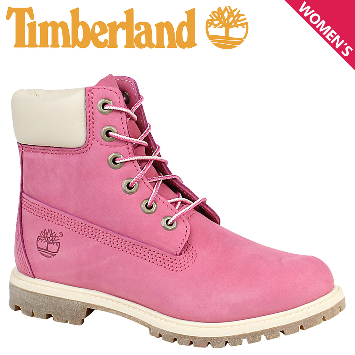 Timberland Timberland Lady's 6INCHI 6 inches premium boots WOMENS 6 INCH PREMIUM WATERPROOF BOOTS A19D8 W Wise waterproofing fuchsia