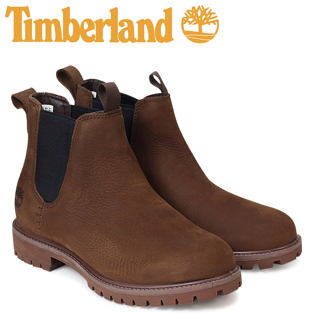 51cbd59419a Timberland 6 inches men's Timberland boots premium waterproof 6INCHI  PREMIUM WATERPROOF CHELSEA BOOTS A1M5G W Wise waterproofing brown [load  planned ...