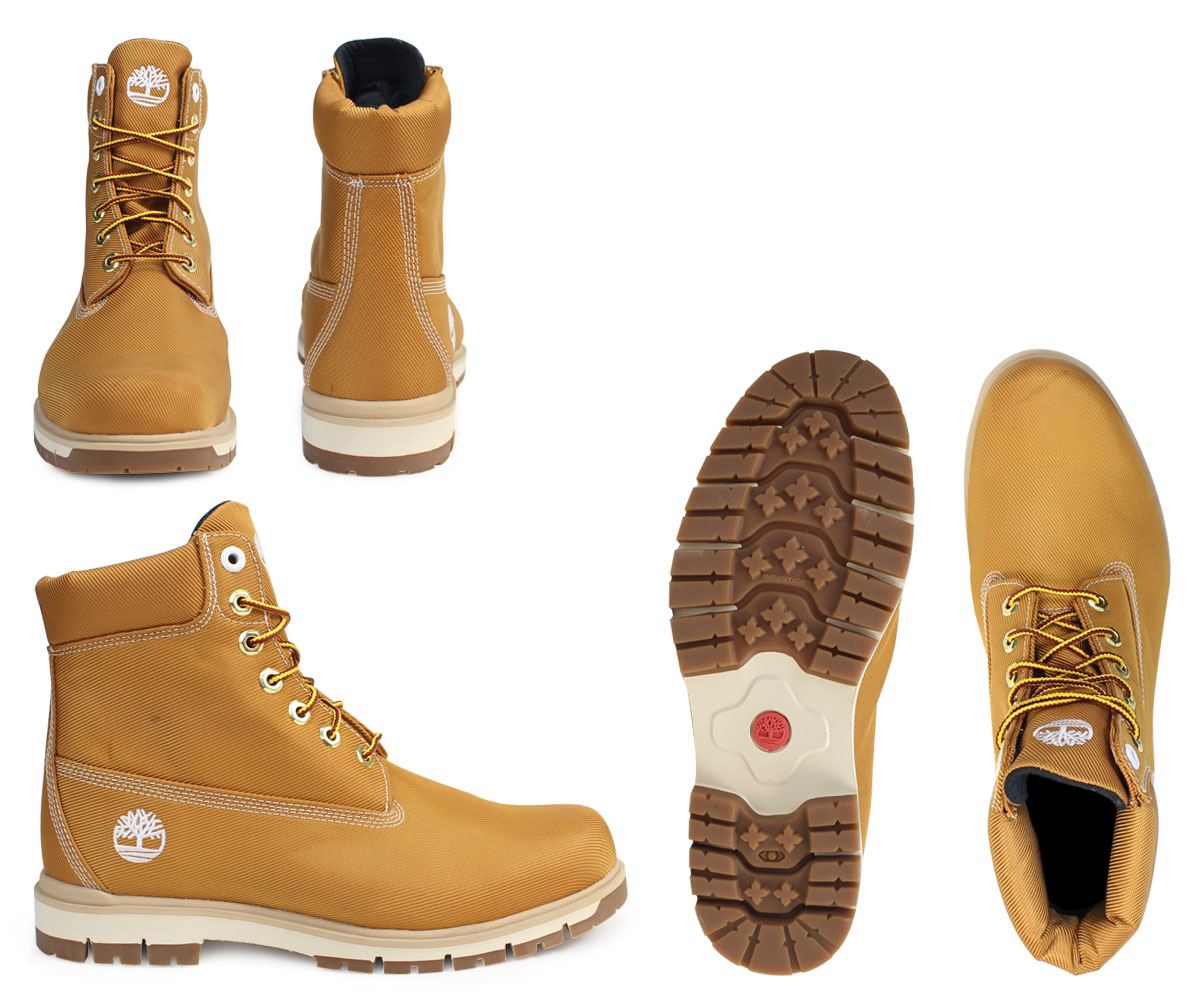 Timberland 6 inches men's Timberland boots 6INCHI RADFORD CANVAS BOOTS A1M8X W Wise waterproofing beige [178]
