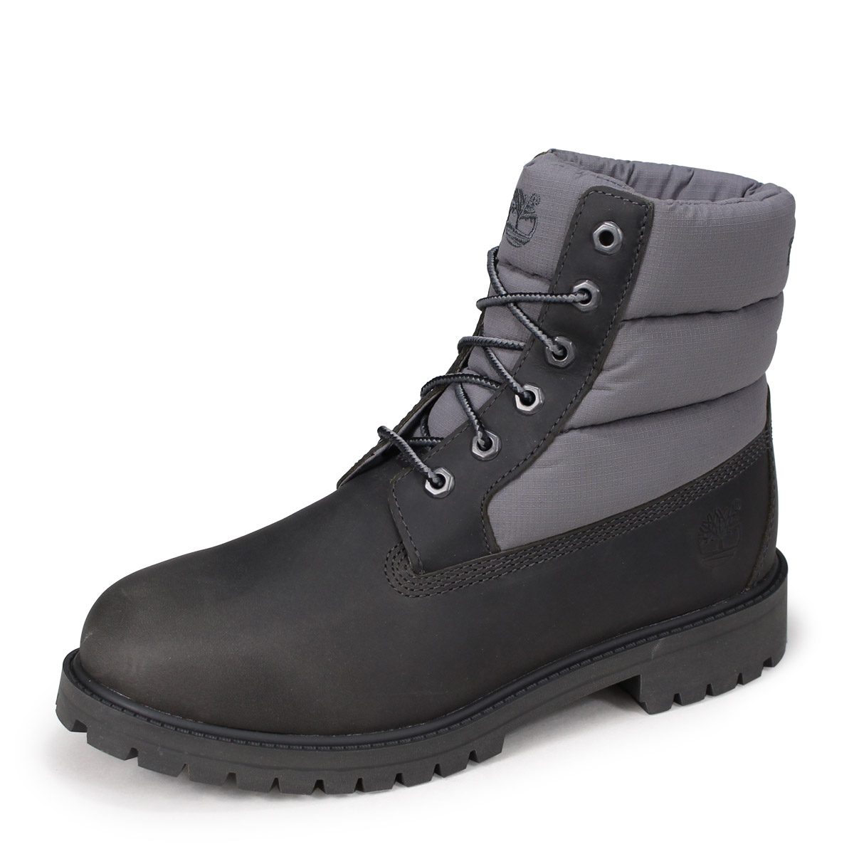 Timberland JUNIOR 6 INCH PREMIUM QUILT BOOTS Timberland boots Lady's 6 inches kids A1UYX M Wise dark gray [1810]