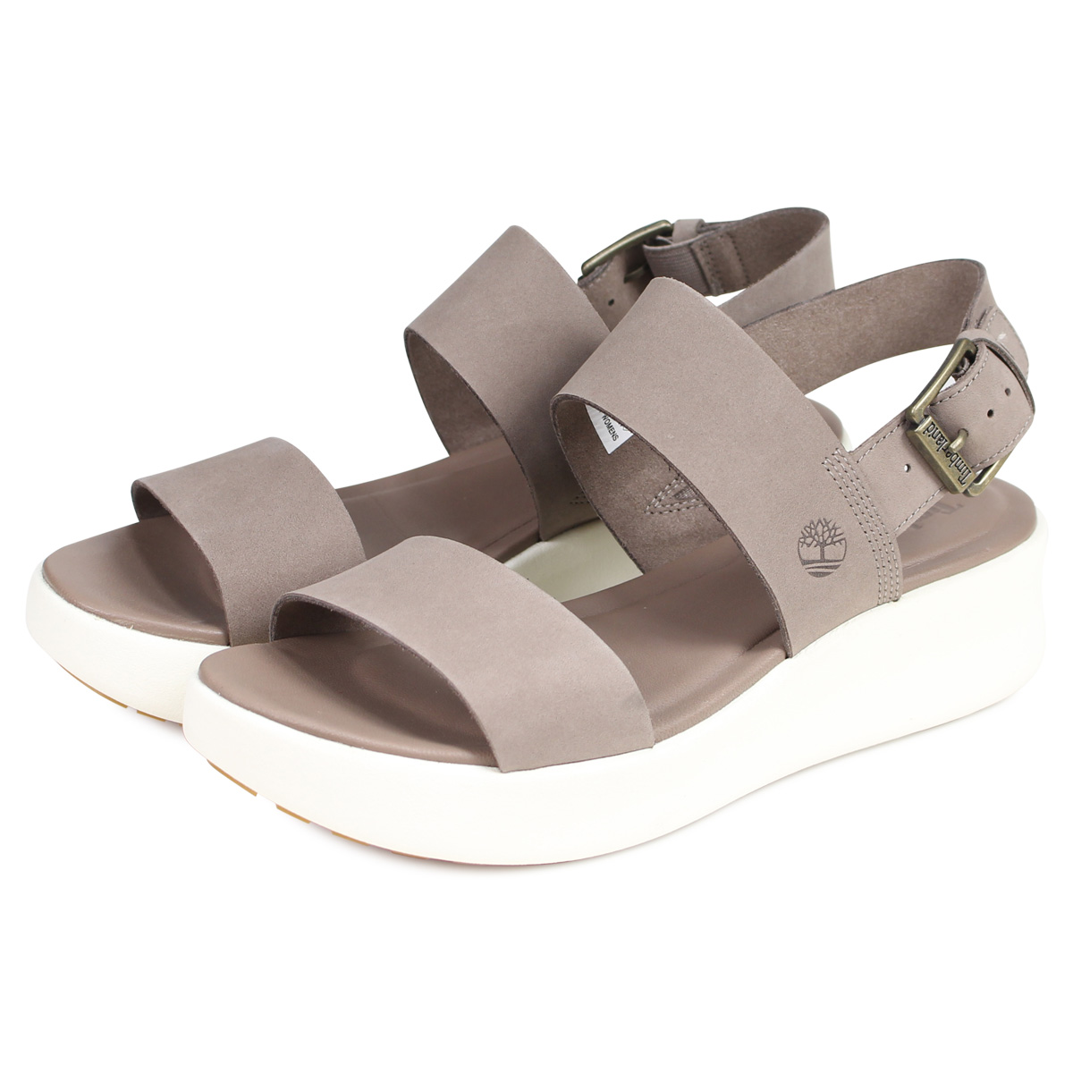 Timberland WOMENS LOS ANGELES WIND SANDAL Timberland sandals platform sandals Lady's light brown A1XW6929 [195]